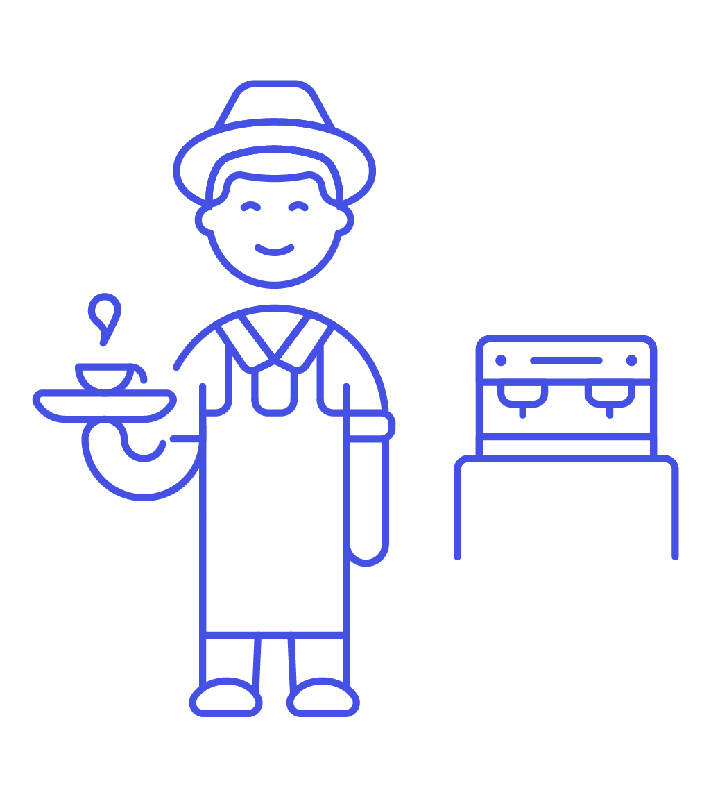 image transparent library Male clipart barista. Icon image creator pushsafer.