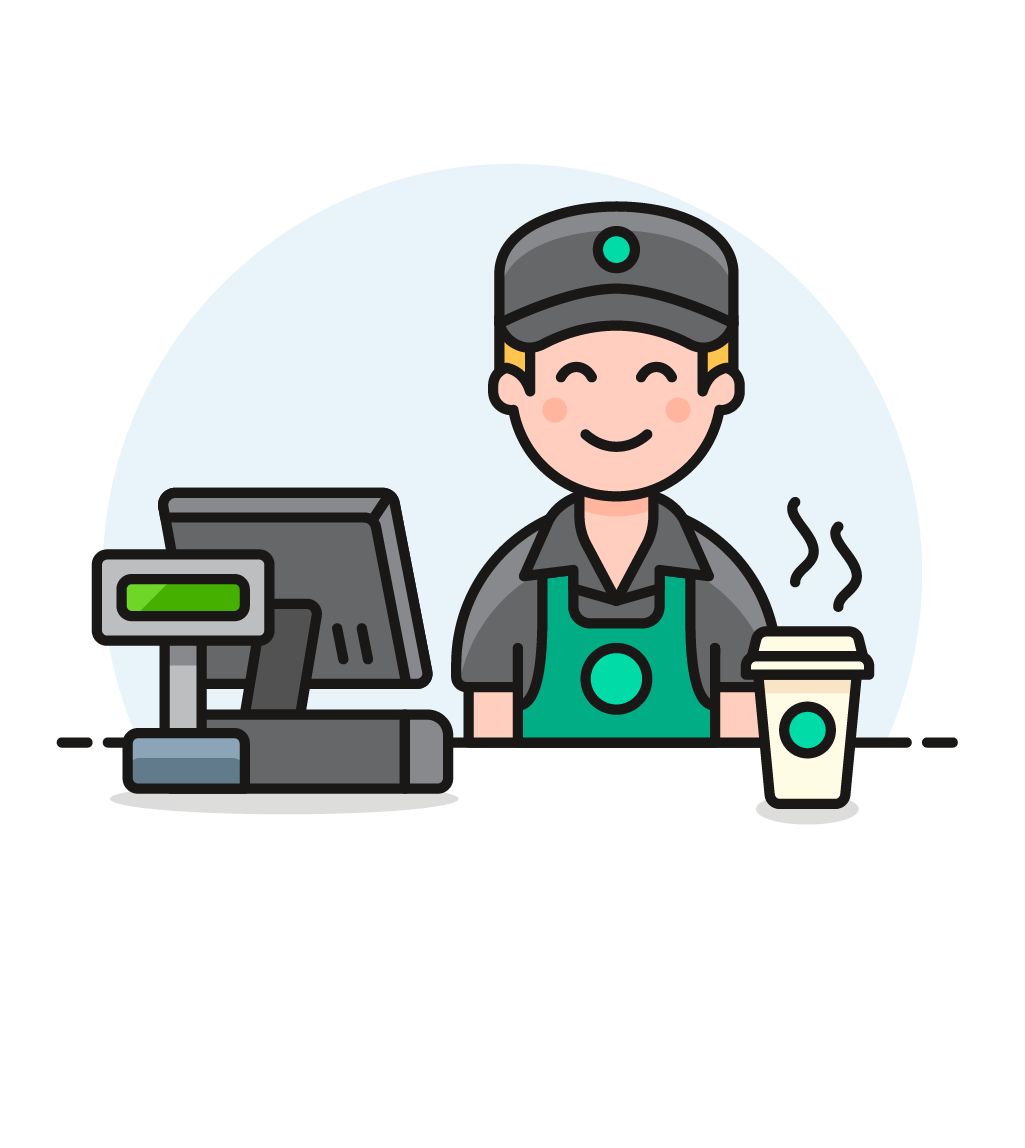 graphic free stock Male clipart barista. Transparent free for .