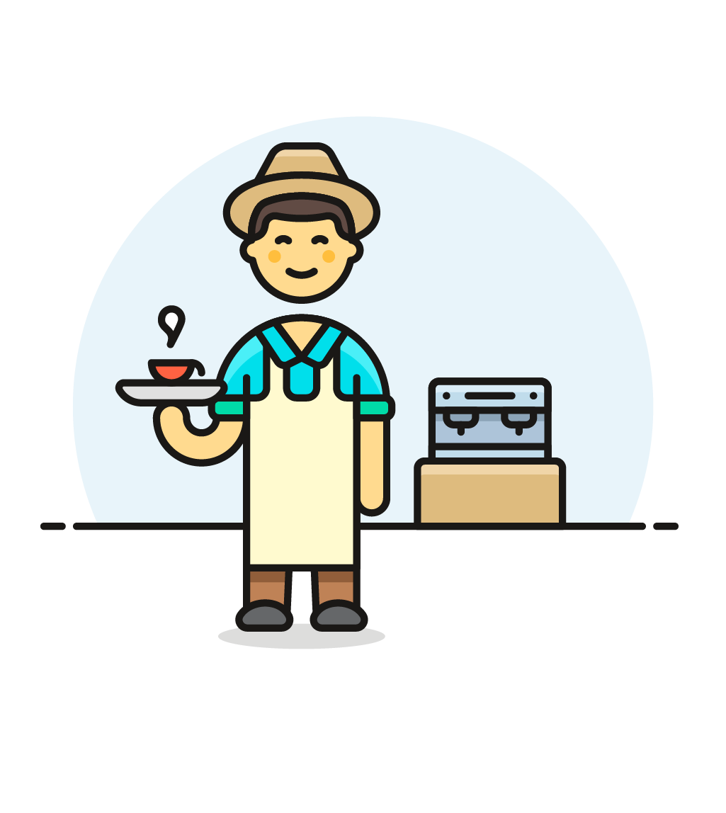 image transparent library Icon image creator pushsafer. Male clipart barista.