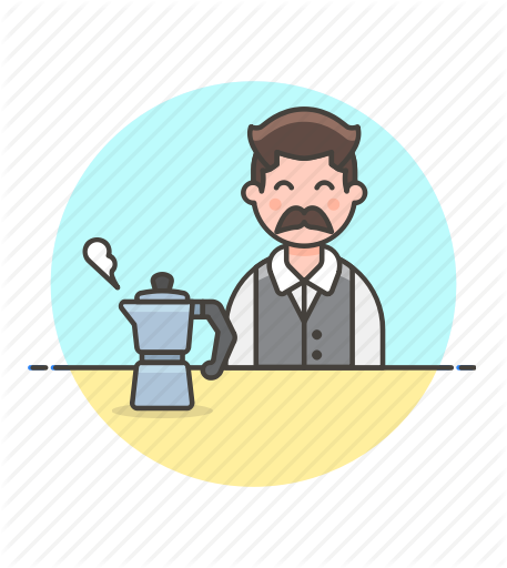 vector stock Male clipart barista. Drinks part by webalys.