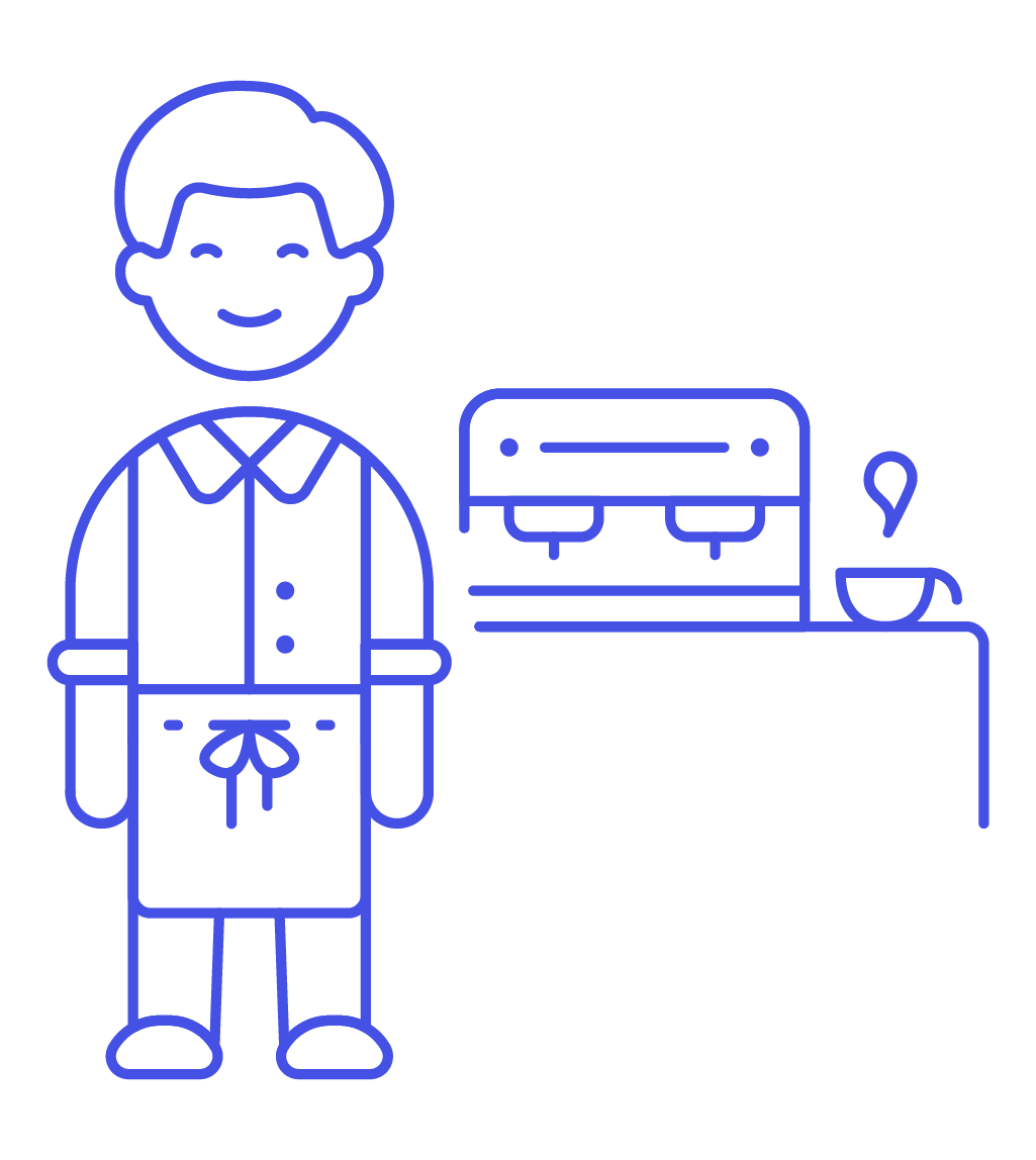 image library library Icon image creator pushsafer. Male clipart barista.