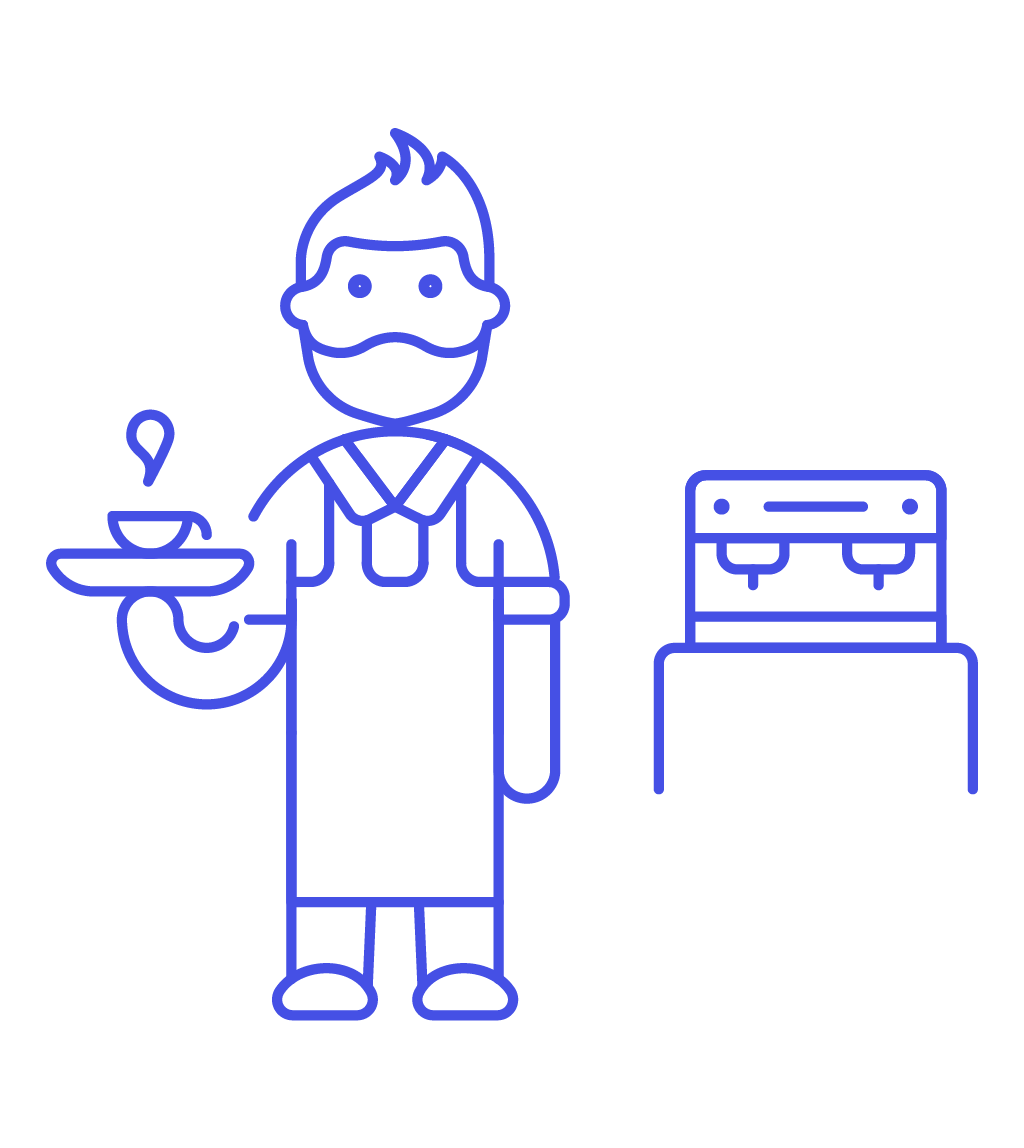 royalty free library Icon image creator pushsafer. Male clipart barista.