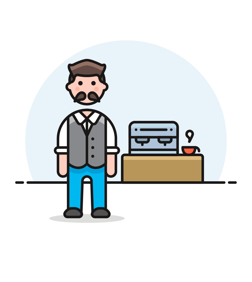 picture royalty free stock Male clipart barista. Icon image creator pushsafer.