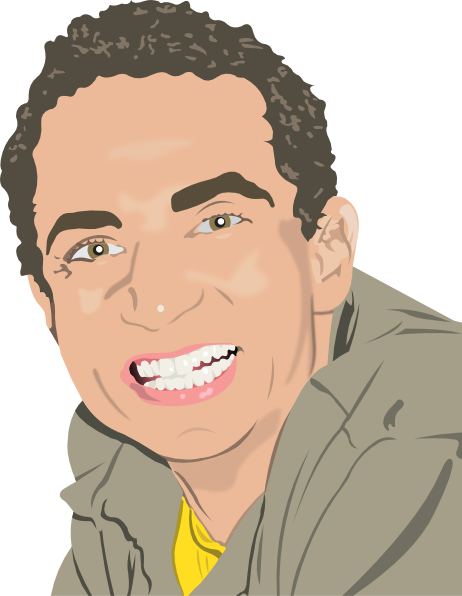 clip library download Smiling clip art at. Male clipart man portrait.