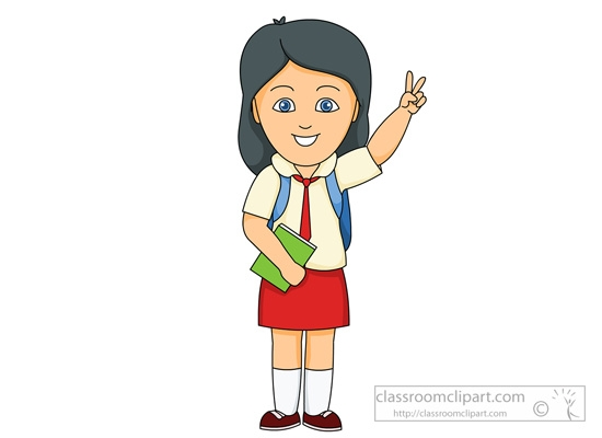 royalty free stock School student in clip. Male clipart uniform.