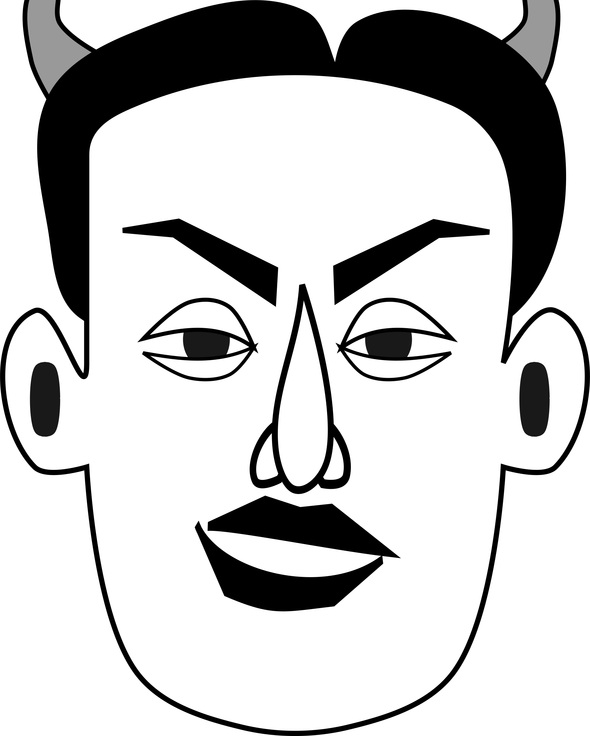 banner download Clipart diabolical faces big. Emotion drawing