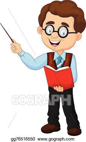 clipart library stock Male teacher clipart. Vector illustration cartoon eps