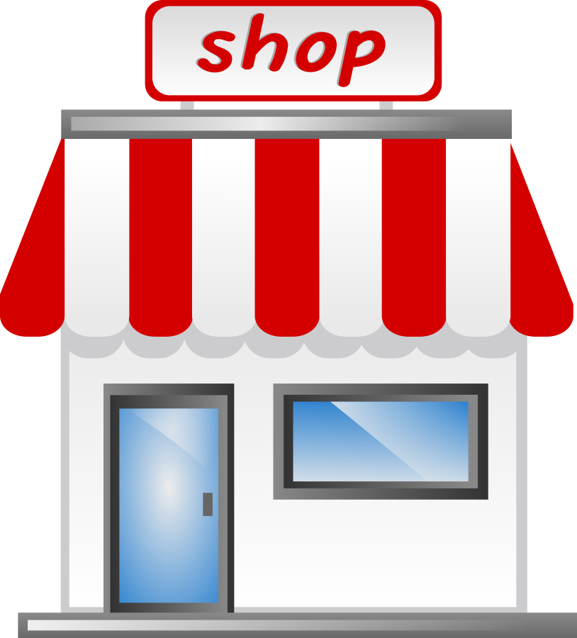 banner black and white download Image of Shopping Mall Building Clipart