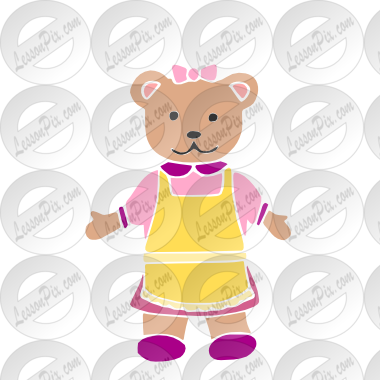 vector royalty free stock Stencil for classroom therapy. Mama bear clipart