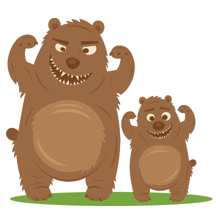 picture freeuse library Mama bear clipart. And baby svg cuts