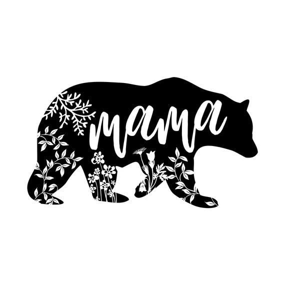 jpg transparent Mama bear clipart. Mothers day files for