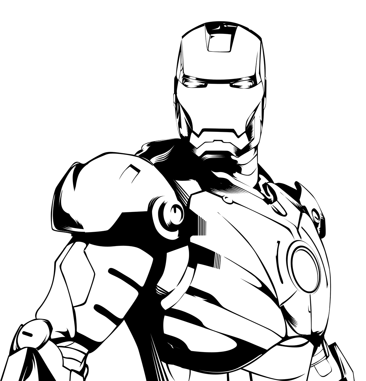 clipart Iron drawing line art. Man black and white clipart