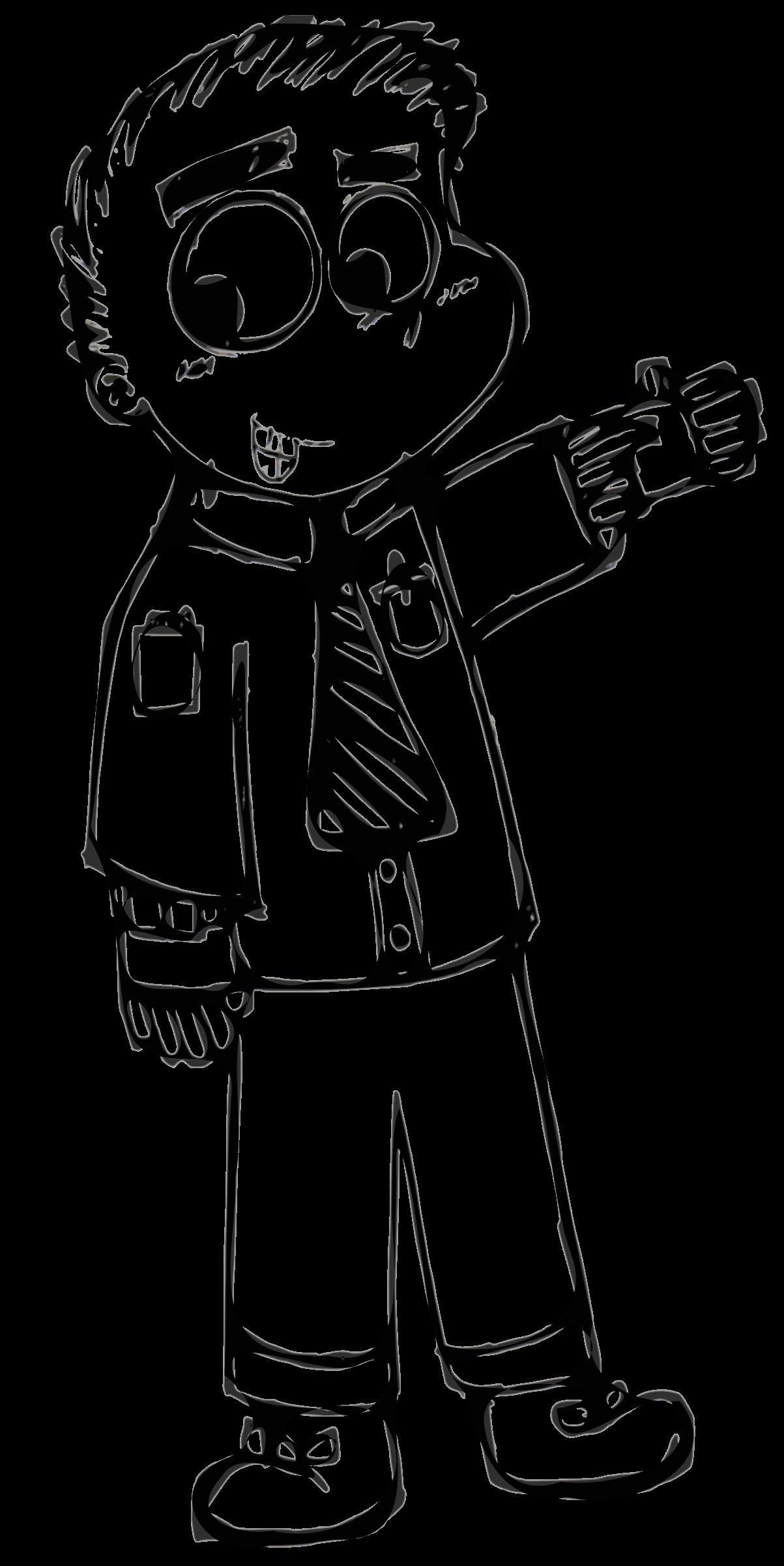 clip art transparent Man black and white clipart. Cartoon guy big image