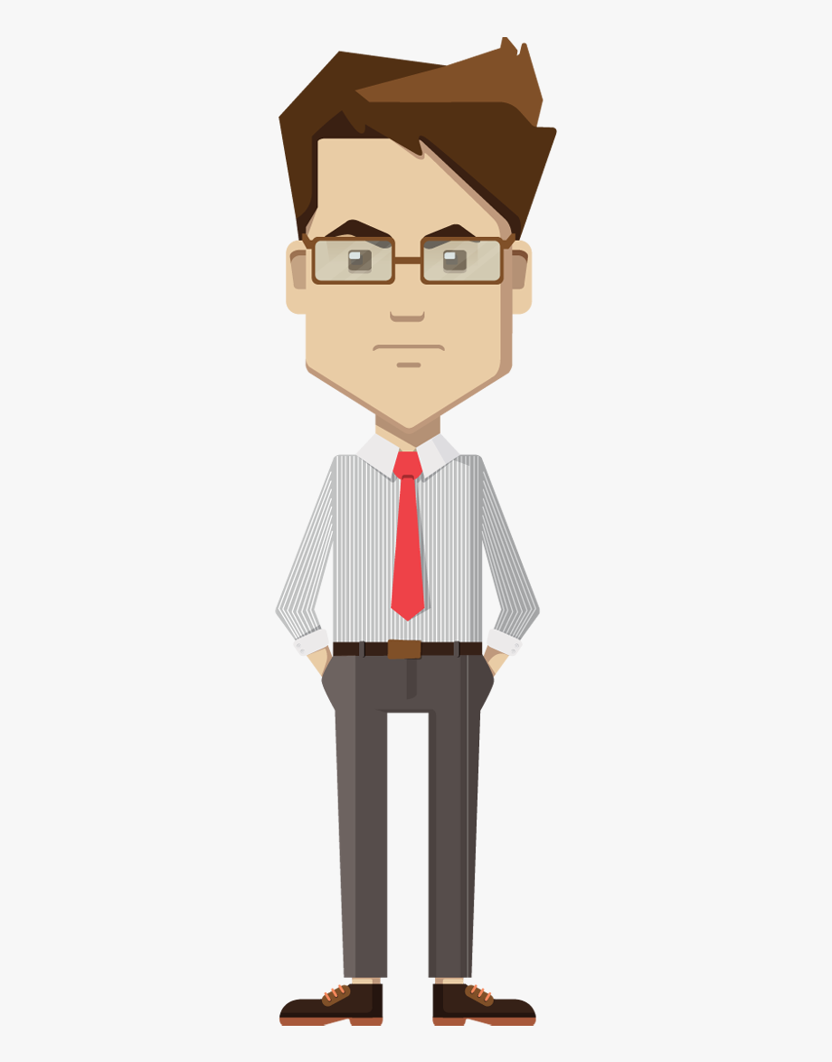 graphic royalty free Man clipart. Businessman standing thinking png