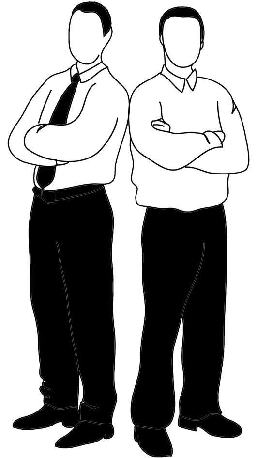 clipart stock  collection of two. Man clipart black and white.