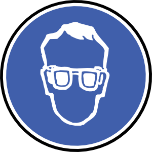 vector royalty free stock Men clipart ppe. Wear protection glasses clip.