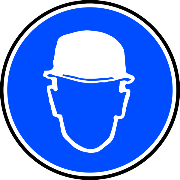 clip royalty free library Mantatory hard hat over. Man clipart ppe.
