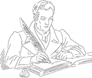 clip transparent  collection of high. Man clipart writing.