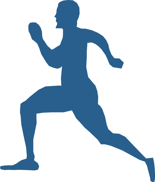 graphic royalty free library Running Man Clip Art at Clker