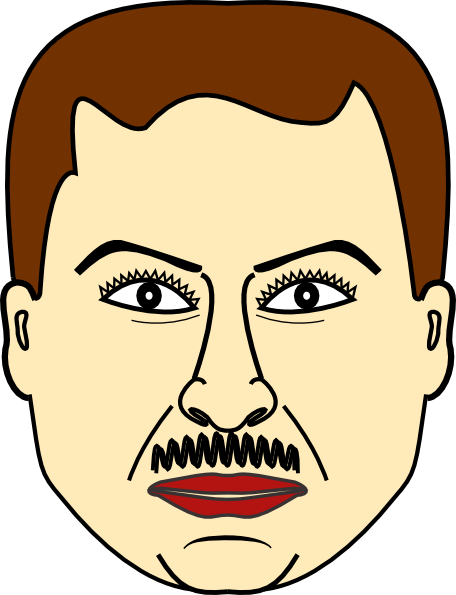 banner transparent download Man Face Clip Art at Clker