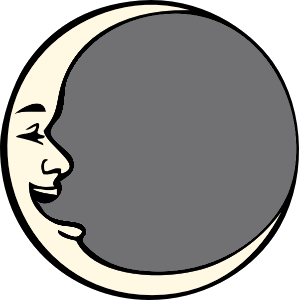 svg royalty free stock man in the moon clipart black and white #58939800