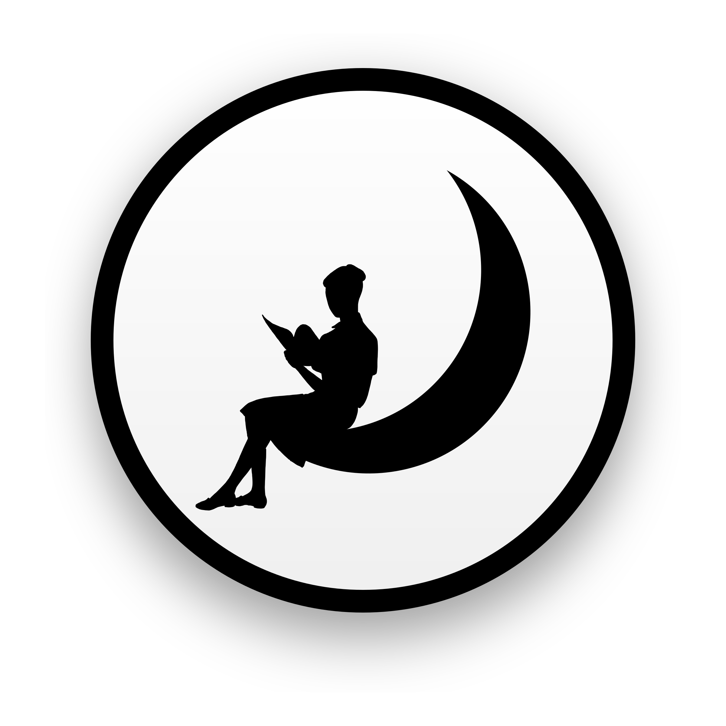 transparent stock Silhouette at getdrawings com. Moon clipart outline