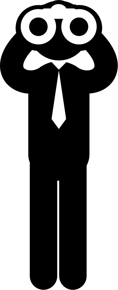 jpg free stock Standing Business Man Looking Through Binoculars To Distance Svg Png