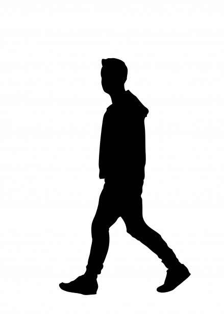 vector free stock Man silhouette free stock. Clipart person walking.