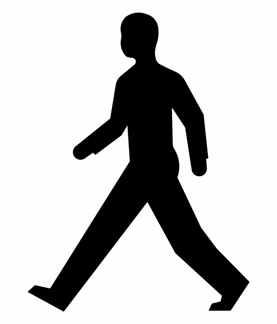 clip library Silhouette transparent . Man walking clipart