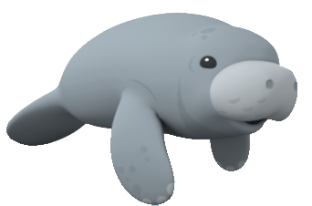 picture freeuse library Manatee clipart. Clip art library