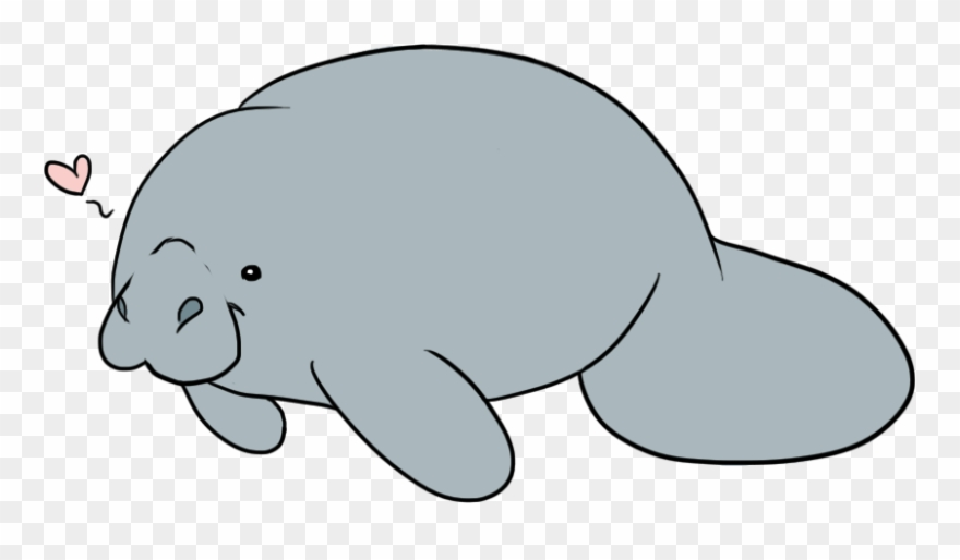 banner freeuse Manatee clipart. Cute clip art png