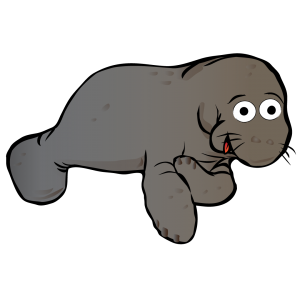 graphic transparent stock Transparent free on dumielauxepices. Manatee clipart