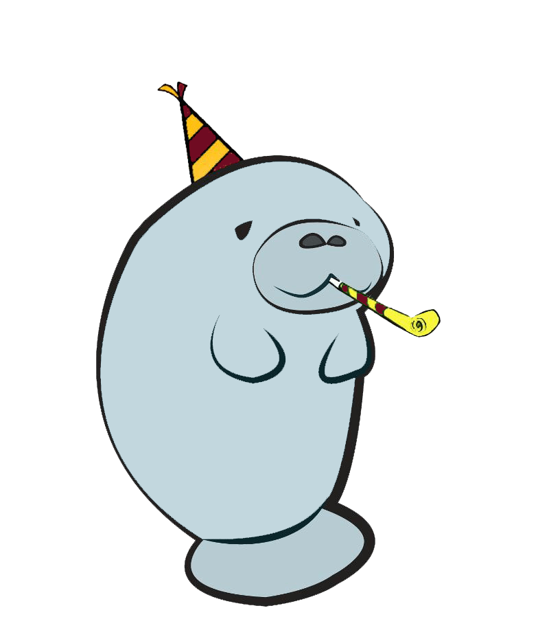 svg freeuse stock Happy free on dumielauxepices. Manatee clipart dugong