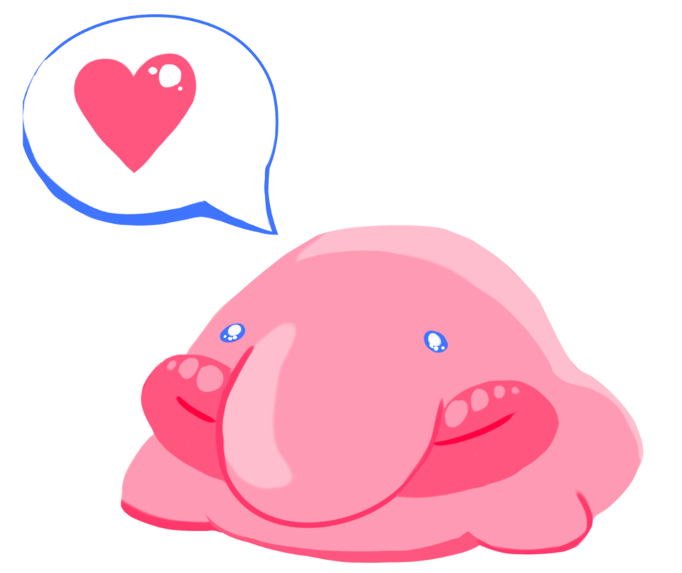 picture freeuse stock Kiss love by robogrove. Blobfish drawing drawn
