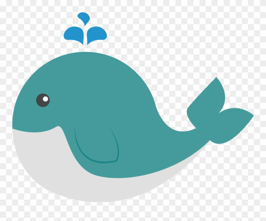transparent Manatee clipart marine mammal. Cetacea whale blue illustration.