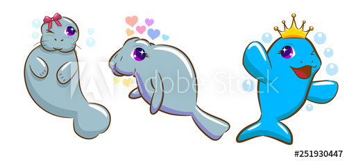 transparent download Buy this stock and. Manatee clipart vector.