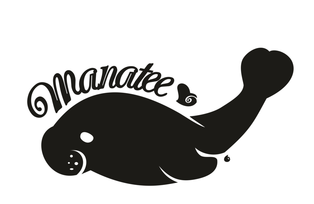 banner royalty free Revised by kna on. Manatee vector