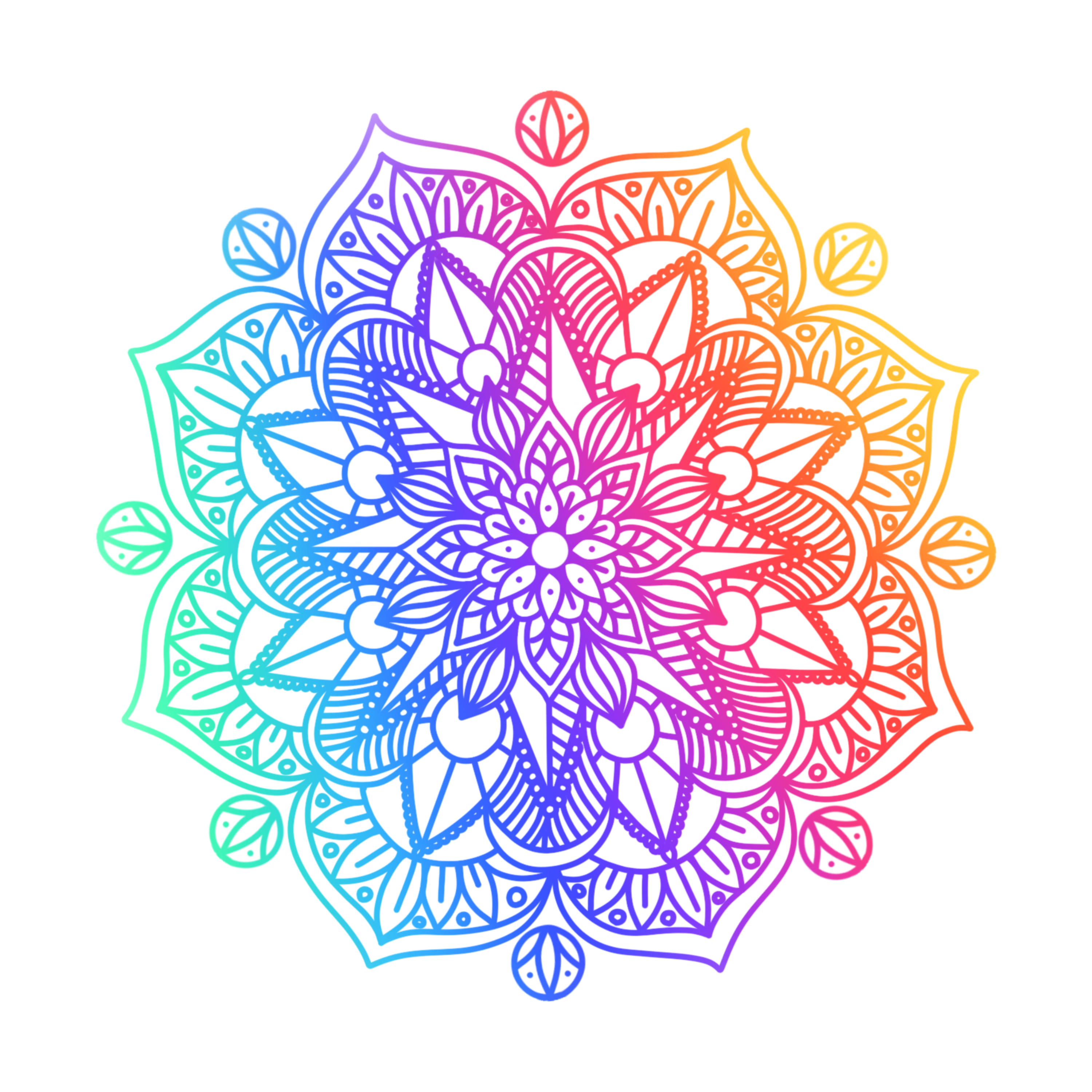 png free library Graphic design clip art. Mandala clipart