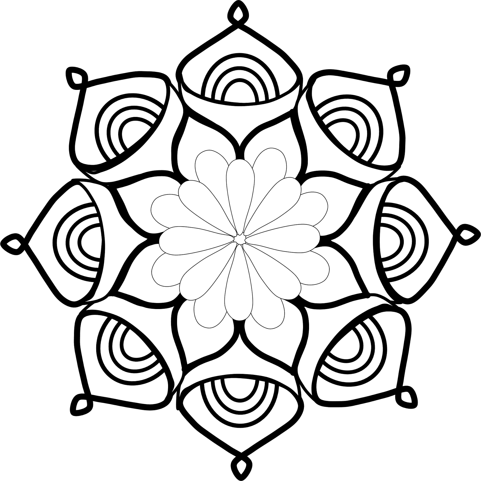 vector black and white Mandala clipart.  clip art clipartlook
