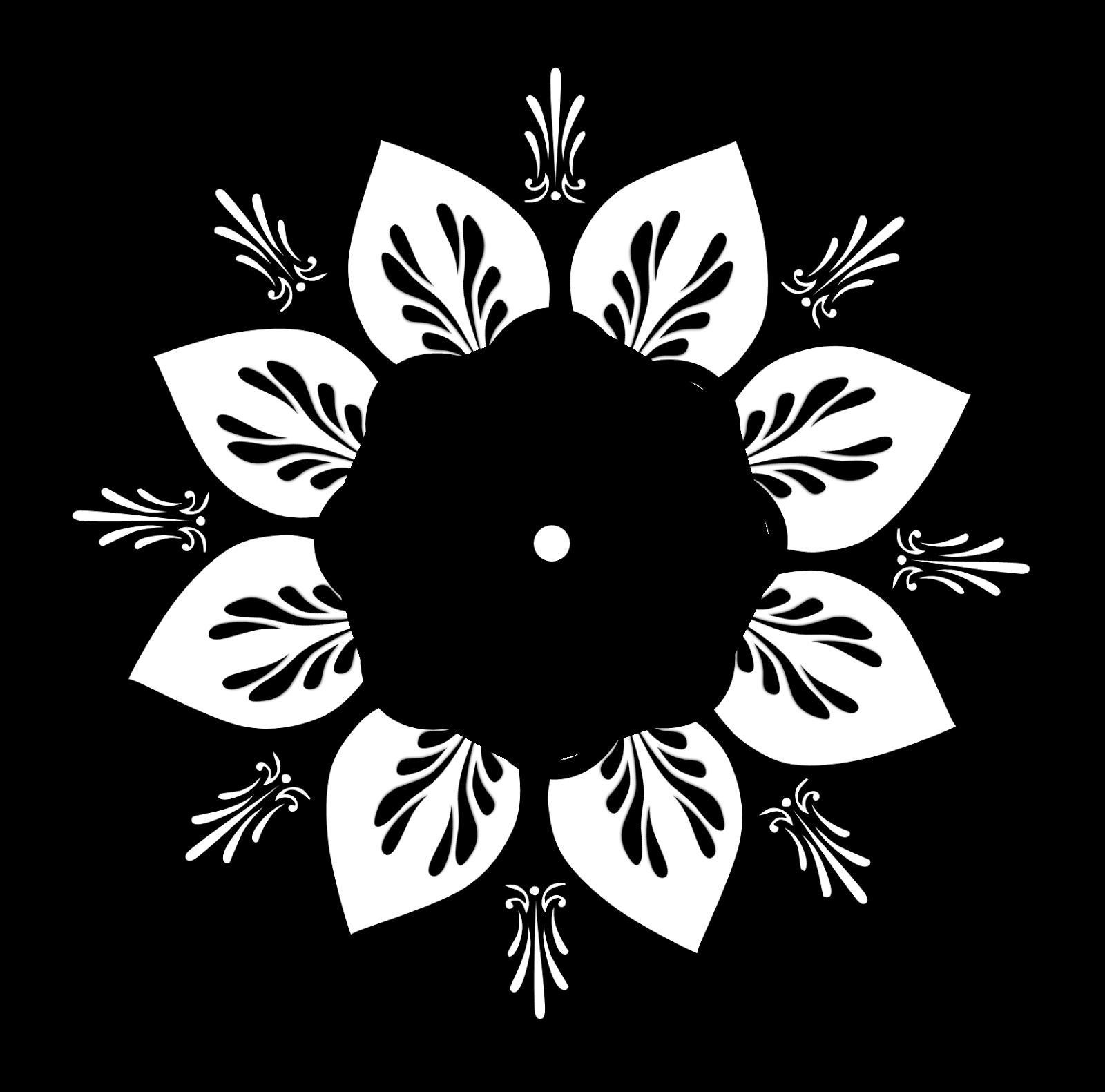 jpg royalty free library Mandala clipart. Free black cliparts download