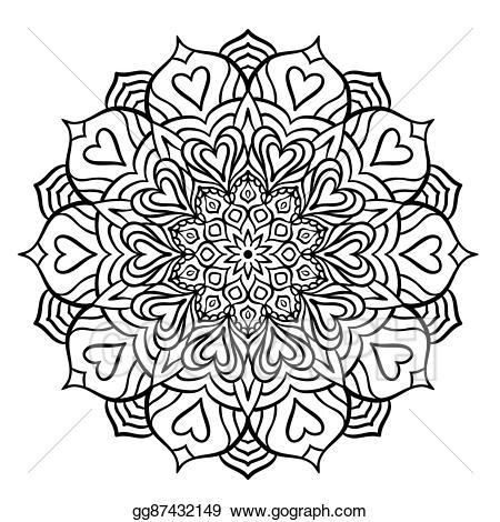 svg download Stock illustration black with. Mandala clipart