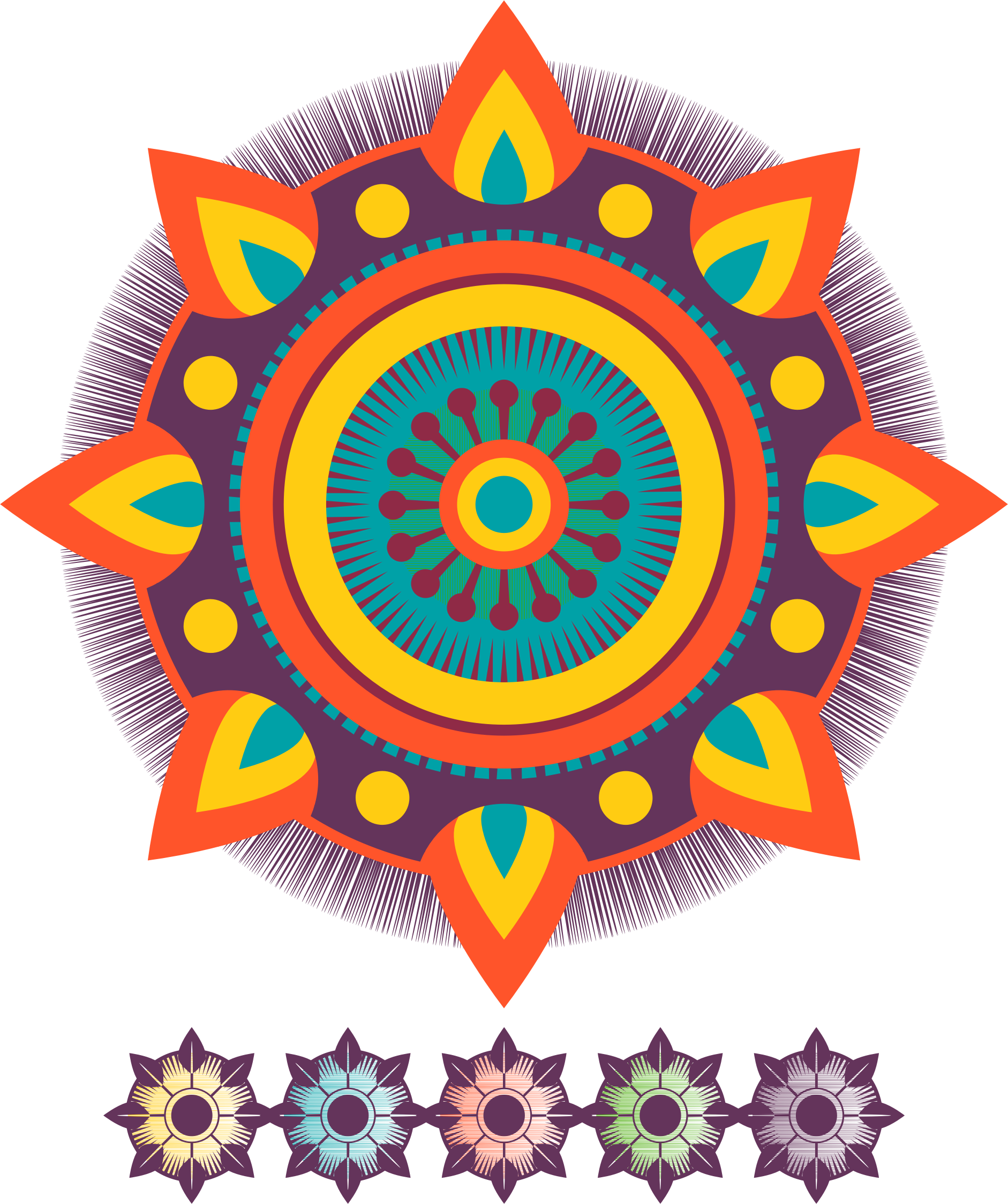 svg free library Mandala clipart basic simple. Flames big image png.