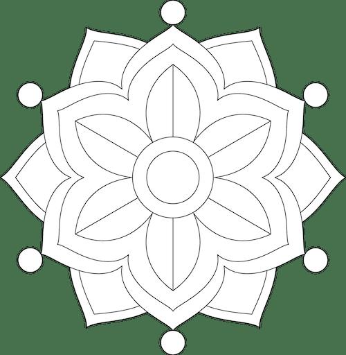 vector library download Painting mandalas free template. Mandala clipart initial.