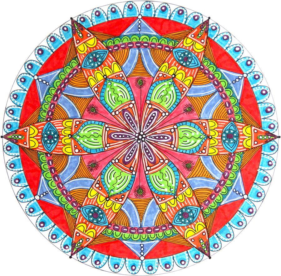 vector library library How to Draw a Mandala With a Compass