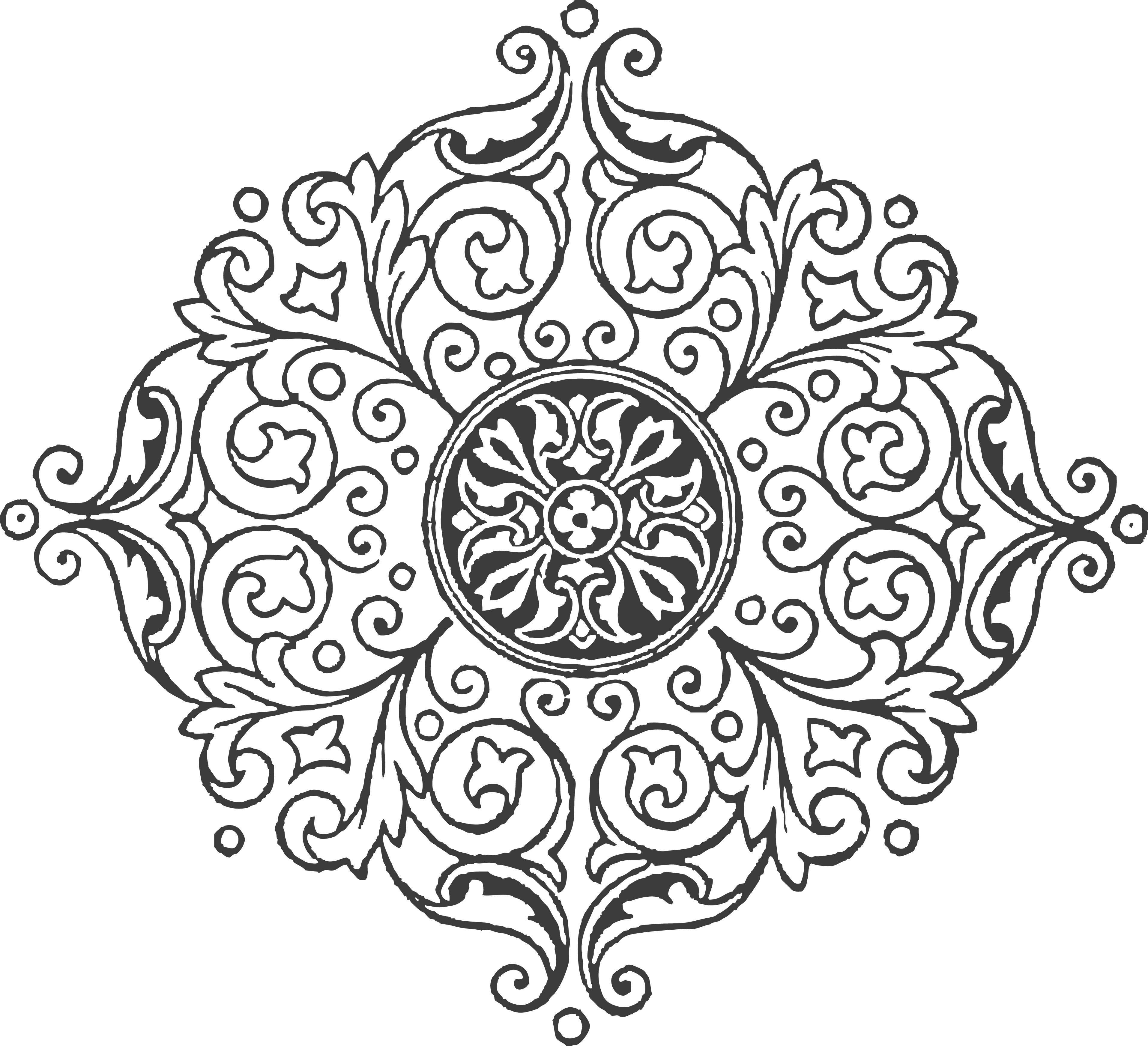 picture transparent Wouldn t this be. Mandala clipart patterned.