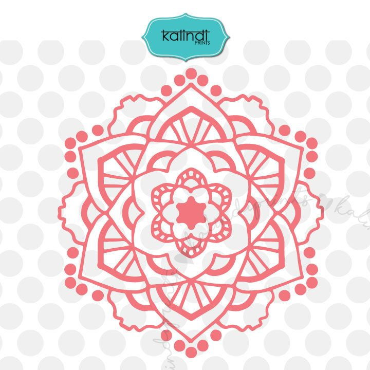 clipart black and white stock Mandala clipart patterned. Svg dxf .