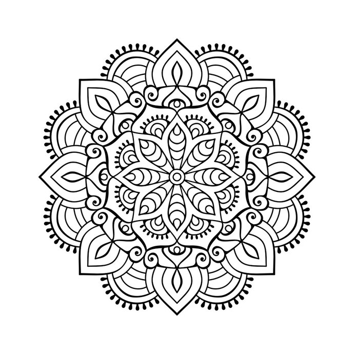 png free download Mandala clipart patterned. Transparent .