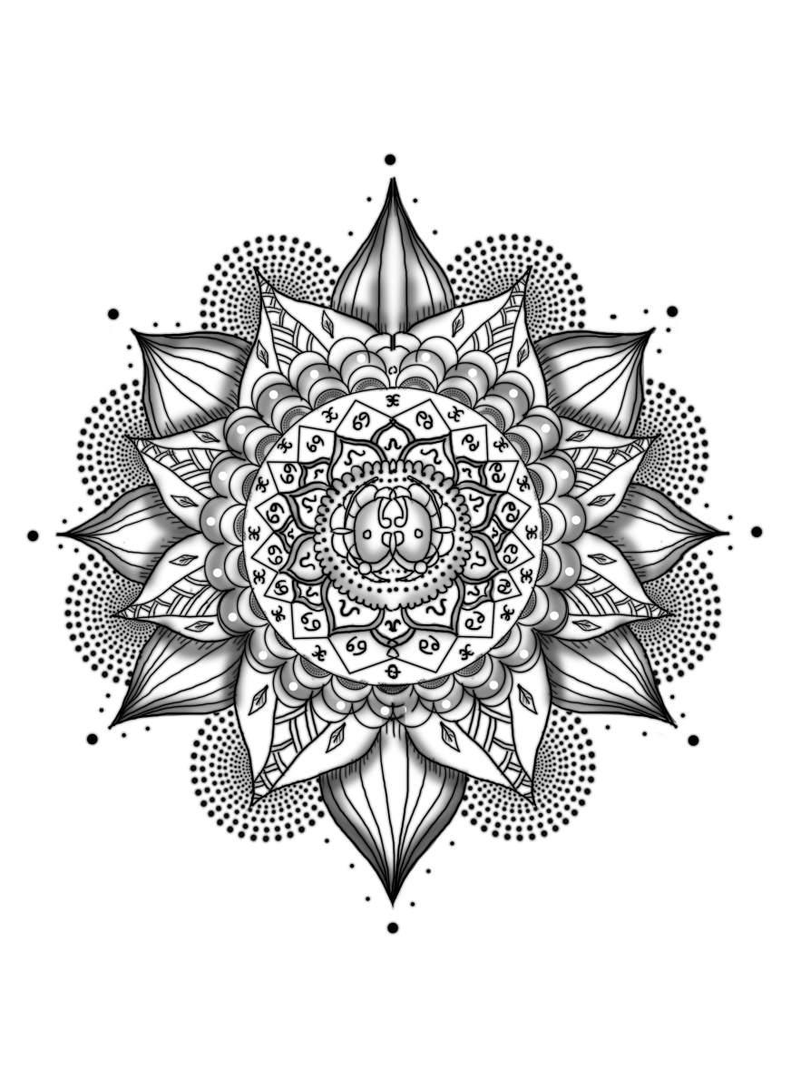 banner Mandala transparent. Tattoo multiple png stickpng