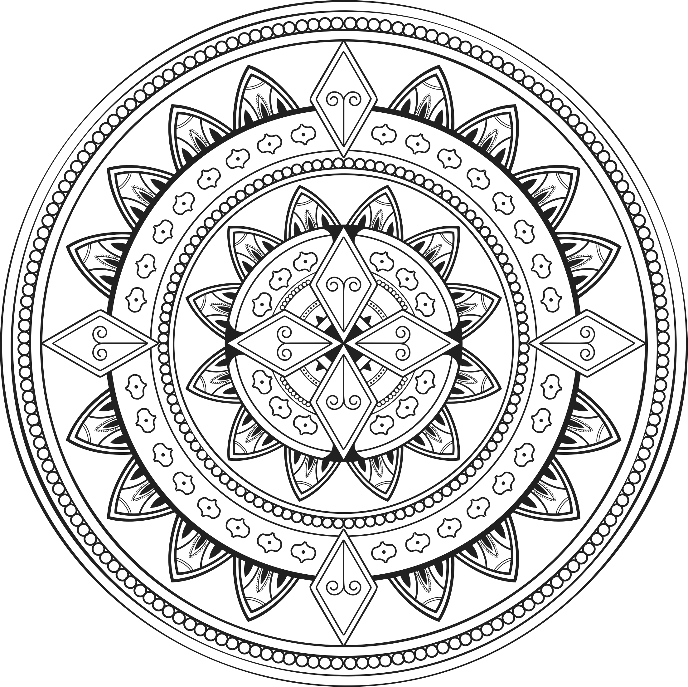 vector stock Mandala transparent background. Ornamental png .