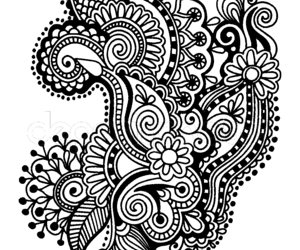 banner library stock mandala transparent black and white #114367740